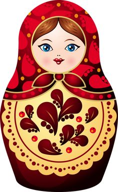 Matryoshka - Russian nesting dolls--tattoo idea - dark hair - hazel eyes - like…
