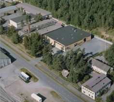 Aerial photo of the Plastex Factory in Lohja Finland. Finland, Industrial, Mansions, House Styles, Photos, Home Decor, Pictures, Photographs, Industrial Music