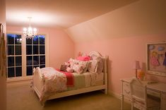 Inviting country with elegance little girl's bedroom in Plan 013S-0010 | House Plans and More