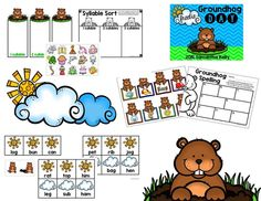 FREEBIE! 3 groundhog day themed literacy activities for your littles!