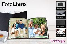 1 ou 3 fotolivros Printerpix com capa dura de couro, a partir de R$15.90