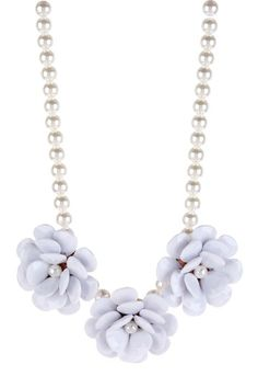 t+j Designs Pearl & Flower Necklace