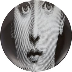 """Fornasetti """"Stretched Face"""" Plate at Barneys.com"""