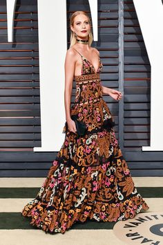Rachel Zoe's Favorite Looks From The Vanity Fair Oscar Party | The Zoe Report Poppy Delevingne in Emilio Pucci