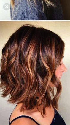 Kurze St – Haare – - All For Hair Color Trending Hair Color Highlights, Ombre Hair Color, Balayage Highlights, Hair Colors, Pixie Highlights, Auburn Hair With Highlights, Burgundy Highlights, Medium Hair Styles, Curly Hair Styles