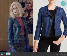 Liv's blue leather jacket on iZombie.  Outfit Details: http://wornontv.net/53377/ #iZombie