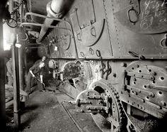 009   1897   U.S.S. Massachusetts, fire room Tending the battleships coal-fired boilers.   Edward H. Hart