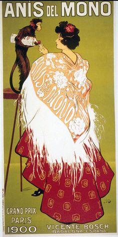 Anís del Mono 1900 | Vintage food & drink poster | Retro advert #Vintage #Retro #Posters #Affiches #Food #Drinks #Carteles #deFharo #Ads