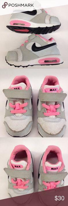 76c558304d nike air max sneakers shoes toddler velcro girl 6 SUPER CUTE PAIR OF NIKE  AIR MAX