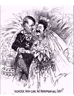 "Cartoon of Hitler and Stalin ""Wonder How Long the Honeymoon Will Last"" (obviously published before June 1941!)"