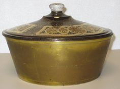 Fire-King Georges Briard  Mid-Century Gold Pattern 2 Qt Covered Chafing Dish