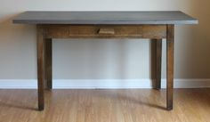 This table could be used for a desk, work table, dining table or even a kitchen island! Farm Table, Dining Table, Table Desk, Furniture, Table, Entryway Tables, Farmhouse Desk, Work Table, Home Decor