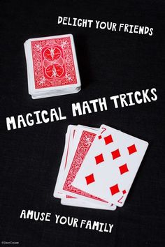TEACH YOUR CHILD TO READ - These magic tricks teach kids just how much fun math can be - card trick, mind reading and passing yourself through a piece of paper - Super Effective Program Teaches Children Of All Ages To Read. Math Magic Tricks, Mental Math Tricks, Magic Tricks For Kids, Maths Tricks, Best Magic Tricks, Multiplication Tricks, Card Tricks For Kids, Cool Card Tricks, Simple Card Tricks
