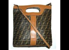 Vintage 1980s Fendi Tote Shoulder Bag | (evansmissy) |