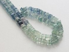 Fluorite Heishi Beads Aqua Green Fluorite Plain by gemsforjewels