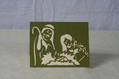Manger Scene, Christmas Card, Handmade