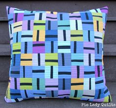 "Pie Lady Quilts: The Allsorts Pillow  [][] With that ""grapevine"" color set?"
