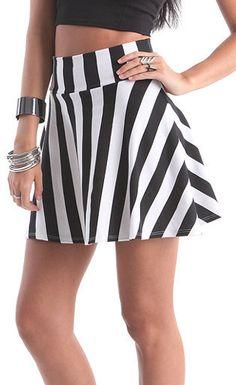 #PacSun                   #Skirt                    #Kirra #Rise #Striped #Skater #Skirt #PacSun.com    Kirra Hi Rise Striped Skater Skirt at PacSun.com                              http://www.seapai.com/product.aspx?PID=1183552