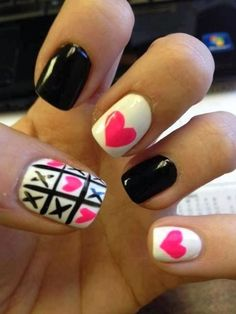 cool Cute nail for valentine's day... by http://www.nailartdesign-expert.xyz/nail-art-for-kids/cute-nail-for-valentines-day/