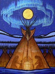 40 Best Native American Paintings and Art illustrations - Buzz 2018 Inuit Kunst, Arte Inuit, Inuit Art, Native American Paintings, Native American Artists, Native American Indians, Native American Drawing, Indian Paintings, Art Paintings