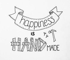 《Be happy》Happiness is handmade - lettering inspiration Calligraphy Doodles, Calligraphy Quotes, Hand Lettering Quotes, Doodle Lettering, Letras Cool, Doodle Quotes, Drawing Quotes, Journal Quotes, Bullet Journal Inspiration
