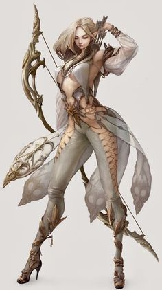 Female Character Design, Character Concept, Character Art, Dnd Characters, Female Characters, High Fantasy, Fantasy Girl, Dnd Races, Archer Pose