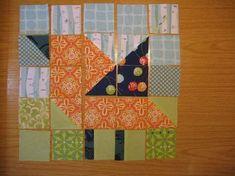 Bird pieced quilt block