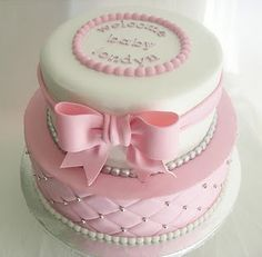 Baby Girl cake - so precious. How would that look in blue???hmmm GG's tiny times