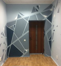 Kurzwald Studio office Our office in Minsk, Belarus Geometric Wall Paint, Geometric Decor, Interior Design Inspiration, Home Interior Design, Interior Decorating, Decorating Ideas, Bedroom Wall Designs, Bedroom Decor, Wall Painting Decor