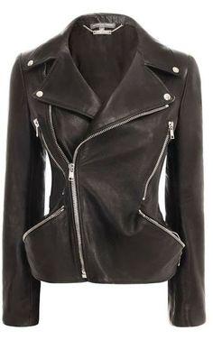 Black Leather Women's Side Zip Jacket   Fashionista Tribe