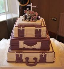 Themed cakes to suit you! a luggage themed wedding cake with cute elephant toppers Themed Wedding Cakes, Themed Cakes, Suitcase Cake, Altar, Dream Cake, Cute Elephant, Food Themes, Wedding Pictures, Wedding Ideas