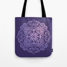 Buy Polynesian style tattoo mandala purple Tote Bag by annaki.  | #S6GTP ~ Created by one of my friends  at  Society6  -