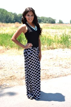 Black and White maxi skirt! #bellaellaboutique