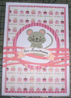 carte d'anniversaire souris
