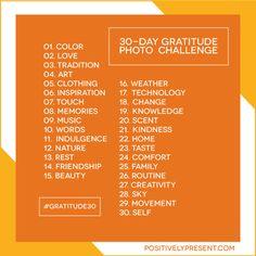 30-Day Gratitude Challenge starts November 1!