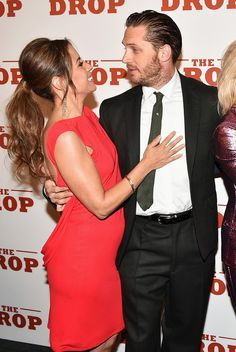 Tom Hardy and Elizabeth Rodriguez - 'The Drop' New York Premiere | 8 Sept 2014 | New York City