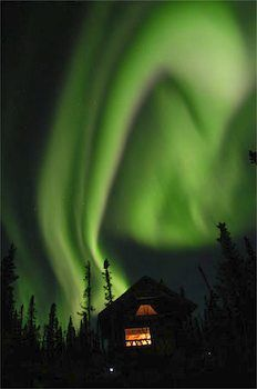 Allegedly the aurora boreal is, but this is so obviously the Dark Mark