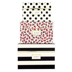 kate spade new york Nesting Boxes, Black Stripe by kate spade new york