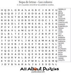 sopa de letras on pinterest word search puzzles and worksheets. Black Bedroom Furniture Sets. Home Design Ideas