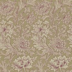 The Original Morris & Co - Arts and crafts, fabrics and wallpaper designs by William Morris & Company | Products | British/UK Fabrics and Wallpapers | Chrysanthemum Toile (DMOWCH102) | Morris V Wallpapers