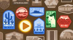 Today's Doodle celebrates the parks and monuments of the U. National Parks on the occasion of the National Parks Service centennial. Google Doodles, Children's Day 2017, Happy Children's Day, Centenario, Us National Parks, Child Day, Stargazing, Art Google, Unique Art