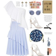 Little book of big ideas by hamaly on Polyvore featuring moda, FLOW the Label, Alexandre Birman, Gucci, Fendi, Bobbi Brown Cosmetics, BHCosmetics, outfit, prints and ootd