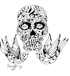 tattoo coloring pages | -coloring-pages-skull-skull-tattoo-tattoo-designs-tattoos-art-tattoo ...