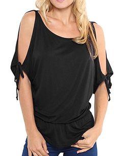 Aishang Women's Short Sleeve Crewneck Cut Out Shoulder Top T-shirt Blouse aishang-women http://www.amazon.com/dp/B00ZVQLAQQ/ref=cm_sw_r_pi_dp_L5VPvb17861ZA