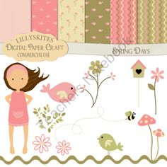 Spring days from Digital PaperCraft on TeachersNotebook.com (17 pages)  - Spring days