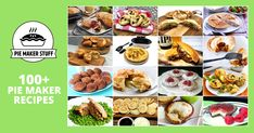 Over 200 yummy sweet and savoury pies, pastries and snacks to make at home in your pie maker machine. Vegetarian, gluten-free and vegan recipes too. Mini Pie Recipes, Vegan Recipes, Cooking Recipes, Tart Recipes, Mini Peach Pies, Mini Pies, Vegetarian Pie, Vegan Pie, Snacks To Make
