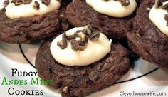 Super moist and delicious Fudge Andes Mint Cookies! The perfect Christmas Cookie!