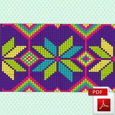 Artículos similares a Wayuu Mochila Pattern - Knitting scheme for a modern bag - 3 variants of color combinations - Crochet chart en Etsy Cross Stitch Pattern Maker, Cross Stitch Patterns, Tapestry Crochet Patterns, Knitting Patterns, Crochet Chart, Crochet Stitches, Chakra Armband, Crochet Kids Scarf, Mochila Crochet