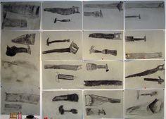"""Kalevalanpäivään sopiva työ """"sammon taontavälineet"""" Science, Art, Craft Art, Kunst, Flag, Science Comics"""