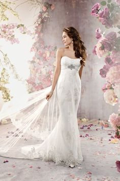 Such a romantic wedding gown by Alfred Angelo. Love it!
